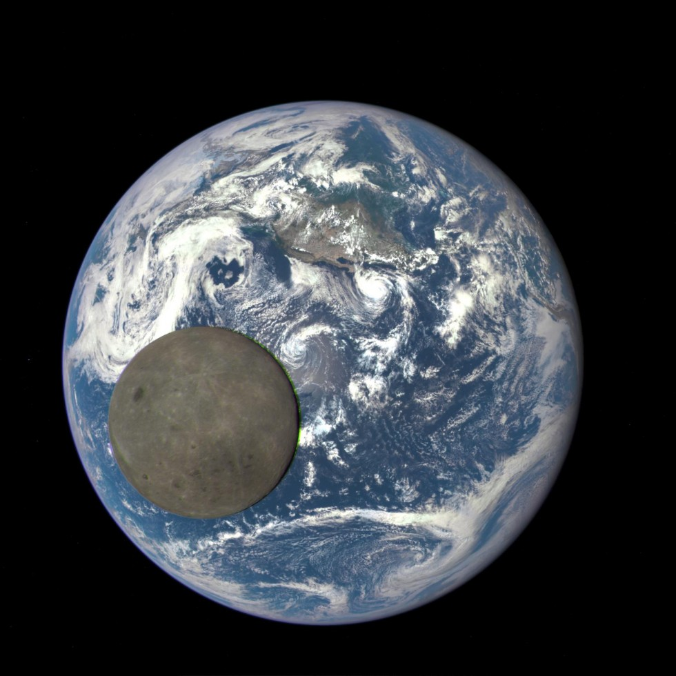 NASA Deep Space Climate Observatory dark side of moon 2015.07.16