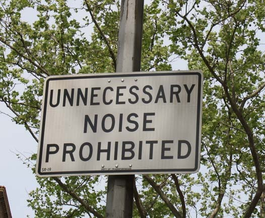 unnecessary noise prohibited