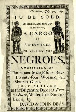 slave auction flyer